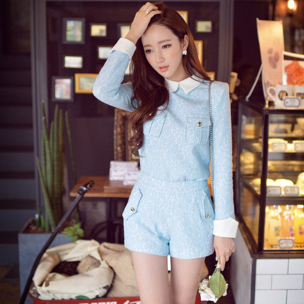 Dabuwawa 2015 winter fashion high waist  lace shorts
