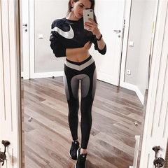 Dropship Winter Autumn Red and Blue Fitness Leggings 2017 Full Length Women Leggings Slim Work Out Leggings Sporting Pants