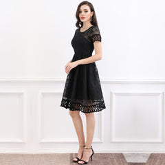 Retro 1920'S Flare Lace Evening Party Dress