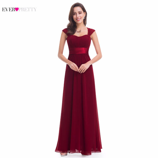 Pink Bridesmaid Dresses 2018 Ever Pretty EP08834 Long Chiffon Cheap Wedding Party Dresses  Bridesmaid Dresses Wedding Gift