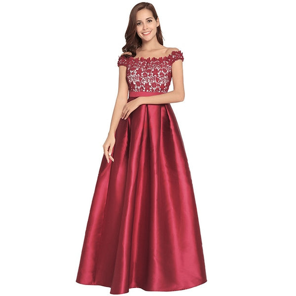 d36fe0768363e Ruiyige 2018 Women Evening Party Sexy Strapless Lace Patchwork Maxi Dress  Backless Zip Elegant Dresses Long Prom Vestidos Female