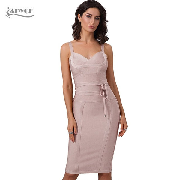 c955620aa ... Adyce Chic Spring Bandage Dress 2018 Sexy Celebrity Party Dress Women  Spaghetti Strap Night Out Bodycon ...