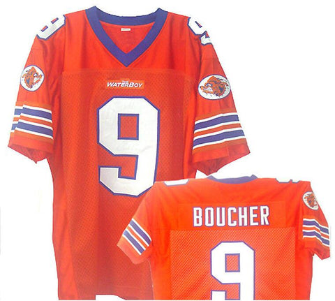 The Waterboy Mud Dogs Adam Sandler Bobby Boucher Football Jersey Orange Movie TV Show