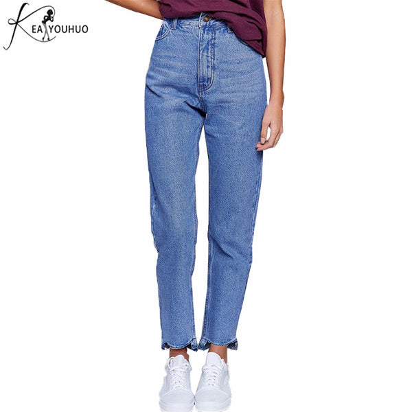 Ladies Pants Woman For Waist Pantalon High Straight Femme Boyfriend Trousers Denim Skinny 2018 Jeans Women Mom Mujer 3L4cAR5jq