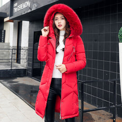 2018 winter jacket women hooded coat fur collar thick warm long jacket female plus size 3XL outerwear parka chaqueta feminino