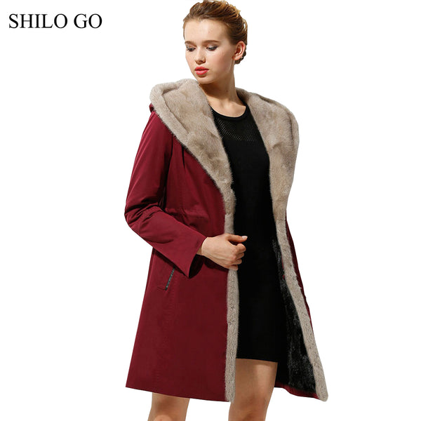2XL Womens Winter Wine Red Dark Blue Jacket Coats Thick Parkas Plus Si 1f38966f6