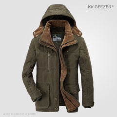 Men Jacket Winter  4XL 5XL 6XL Brand Warm Thicken Coats High Quality Famous Cotton-Padded Fashion Parkas Elegant Business Pocket
