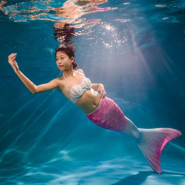 Girls Mermaid Tails for Swimming Adult Mermaid Tail without Monofin Swimmable Swimwear Cosplay Costume for Swimming Zeemeermins