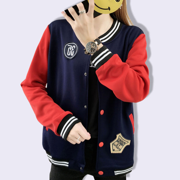 Women's Baseball Jacket Casacos Drop Shipping Plus Size College Jackets Bomber Jacket 2018 Autumn Winter Coats Basic Outwear