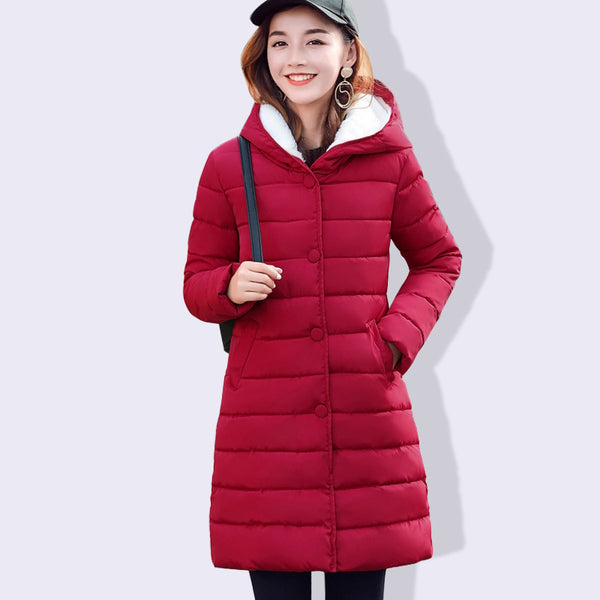 f8533cc2a80 2018 Winter Jacket Women Plus Size Womens Parkas Thick Outerwear Solid