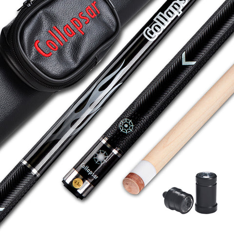 Collapsar R04 R05 Billiard Pool Cue Stick 2PC 58Inch Maple Wood Shaft Black White Cue  11.5mm/13mm Tip China