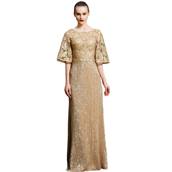 Embroidery Sequined 2018 Women's elegant long gown party proms for gratuating date ceremony gala evenings dresses up 26