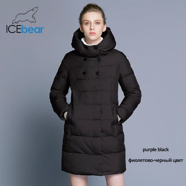 many choices of exclusive range amazon ICEbear 2018 Hot Sale Winter Womens Coats Down Thickening Jacket And Coat  For Women High Quality Parka Five Colors 16G6128D
