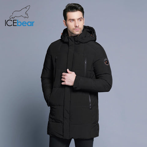 b237f82aed1 ICEbear 2018 Winter Jacket Men Slim Thick Warm Top Quality Waterproof  Zipper Clothes For Men Fashion