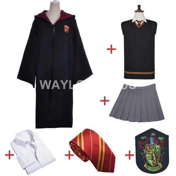 Gryffindor Uniform Hermione Granger Cosplay Costume Adult Version Halloween Party New Gift for Harri Potter Cosplay