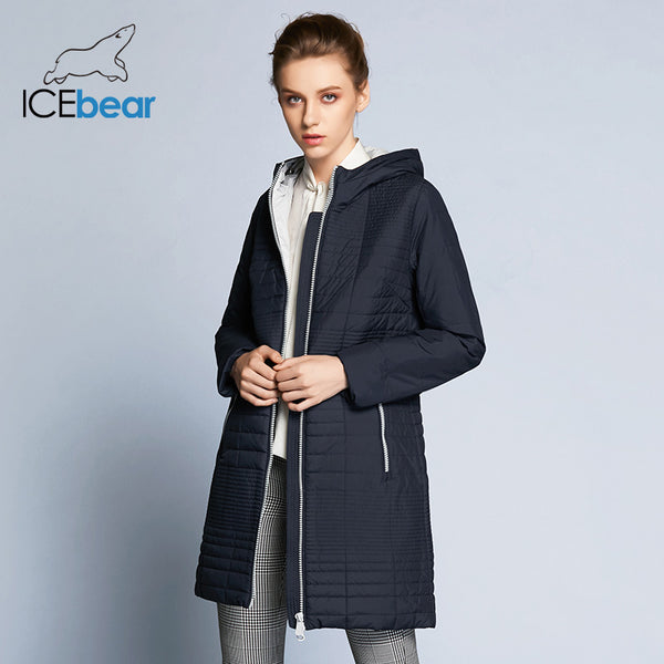 street price wide varieties professional design ICEbear 2018 Autumn Long Cotton Women's Coats With Hood Fashion Women  Padded Brand Autumn Jacket Parka B17G292D