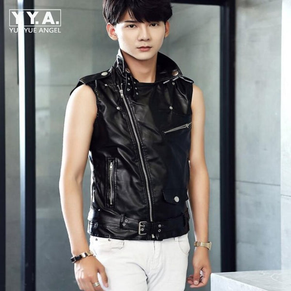 00930f97991 Top Fashion Brand New Mens Summer Leather Jackets For Man Slim Fit Mot