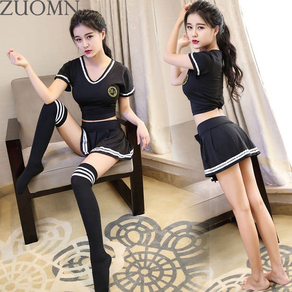 Product Image School Girl Sexy Footballbaby Suit Cosplay Uniforms Footballbaby Cheerleader Costumes Cosplay Women Sexy Lingerie Outfit Y91