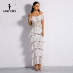 ee5d077ad044 ... Missord 2018 Sexy Lace Dresses long sleeve cute Maxi dress Party straps  Dress FT186233