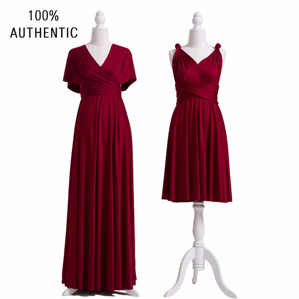 Burgundy Bridesmaid Dresses, Infinity Dress, SHORT, LONG, PLUS SIZE,  Convertible Maxi Dress, Multi Way Dress, Twist Wrap Dress
