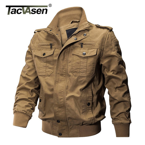 TACVASEN Men Winter Military Jacket Cotton Bomber Jacket Coat Army Pilot Jacket Men's Air Force Casual Jacket Autumn Clothing