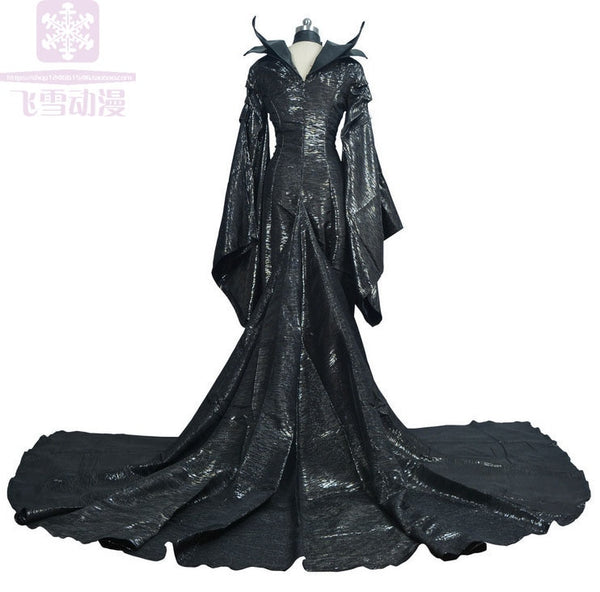 Movie Maleficent Black Witch Angelina Jolie Princess Maleficent Cosplay Fancy Dress Canraval Halloween Costume Maleficent horn
