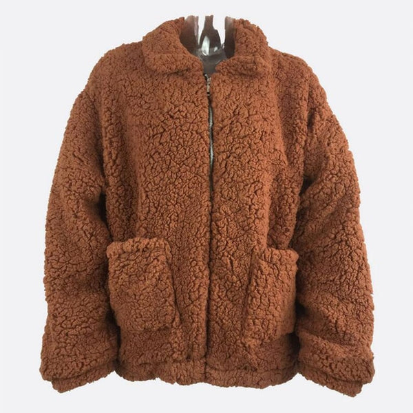 0de70f27cda7 ... 4XL Plus Size Faux Fur Coat Woman Winter Thick Warm Teddy Bear Bomber Jacket  Fur Long