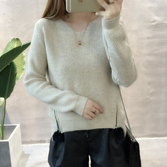 2017 Autumn Winter Women Knitted Loose Sweater V-neck Pullover Female Casual Sweaters For Women Chrismas Pullovers PW1118