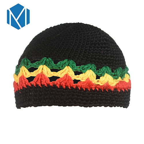 4d5695182a6 Miya Mona Men s Winter Hat Wig Braid Jamaican Bob Marley Rasta Multicolor  Headwear Striped Cappello Beanie Hip hop knit cap