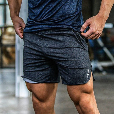 8d774a346e Summer New Mens Fitness Shorts Fashion Casual Gyms Bodybuilding Workout Male  Calf-Length Short Pants