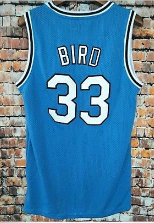 separation shoes 5ba25 2e893 Larry Bird 33 Indiana State Light Blue Basketball Jersey Colors