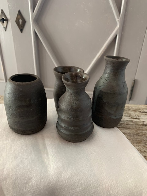 Volcanic Bud Vase Set of 4 SOLD