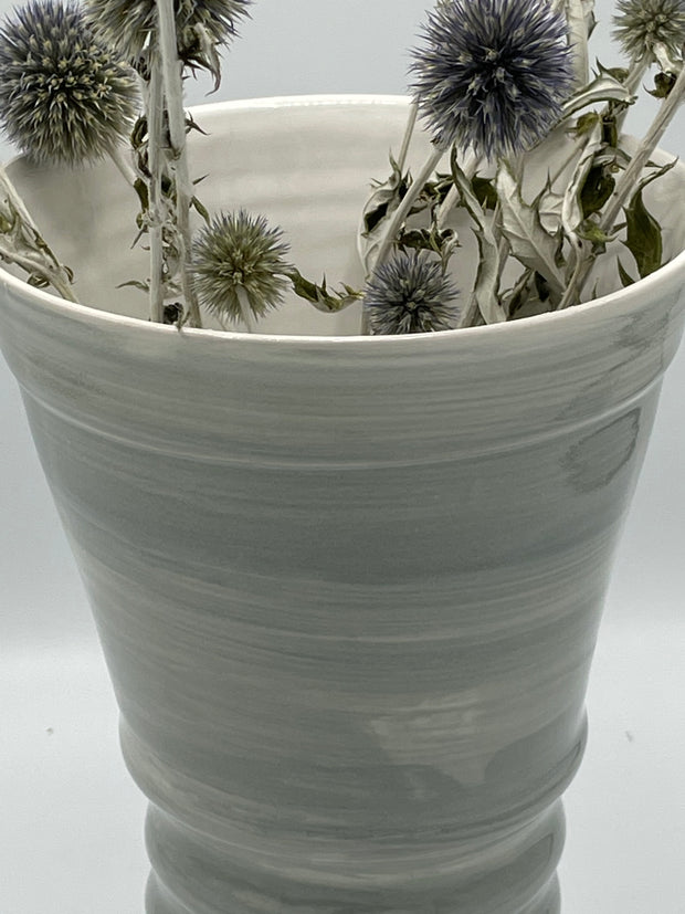 Large Grey Flower Vase
