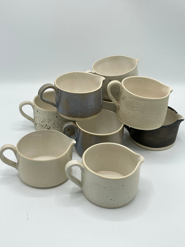 Bettie Sauce Jugs New Glazes
