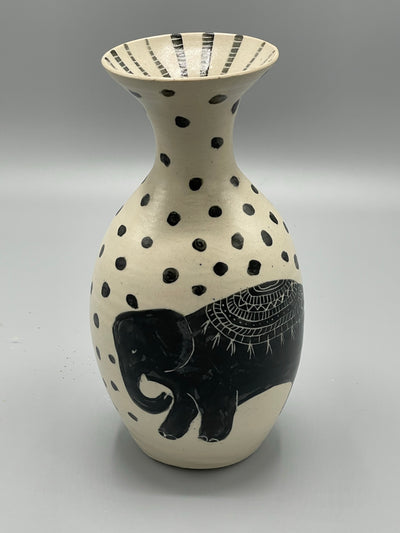 Tribal Elephant Vase