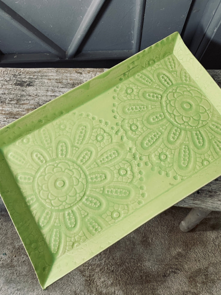 Lily Ceramic Tray in Zest.