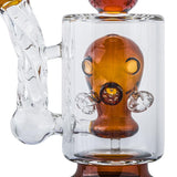 10.2″ Orange Gas Mask Perc Glass Dab Rig | For Sale | Free Shipping