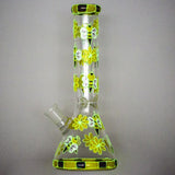"10"" Glowing Honeybee Glass Beaker Bong For Sale 
