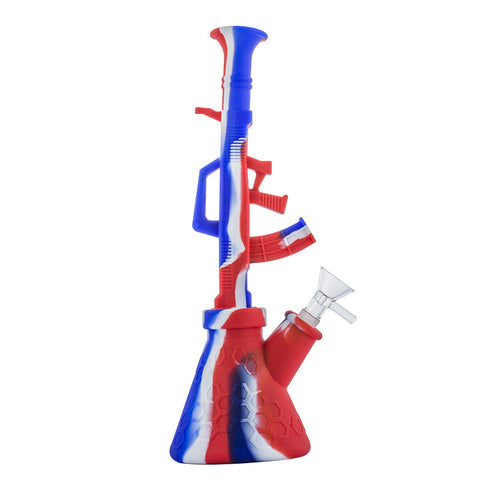 "11.4"" 2-in-1 Silicone Gun Bong/NC 