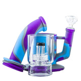 14 Showerhead Perc Silicone Bong  Water Pipe For Sale Free Shipping