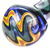 Fumed Color Changing Glass Spoon Pipe w/ Swirl Pattern | Free Shipping