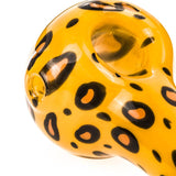 Yellow Glass Pipe with Leopard Print | Pipes For Sale | Free Shipping