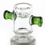 18mm Male Bong Bowl With Green Handles | For Sale | Free Shipping