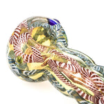 Chunky Glass Spoon Pipe w/ Marble | Weed Bowls For Sale |Free Shipping