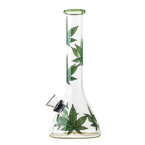 8Marijuana Leaf Glass Beaker BongWater Pies For Sale  Free Shipping
