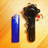Black Glass Spoon Pipe Marble Grips | Pipes For Sale | Free Shipping