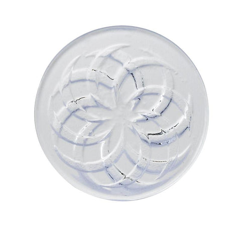 Clear Vortex Pattern Quartz Channel Cap 30mm