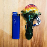 Fumed Bubble Portable Glass Pipe Horns For Sale | Free Canada Shipping