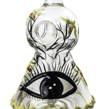"8"" Honeycomb Beaker Bong Eye Pattern 