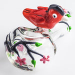 Girly Glass Pipe w/ Bird& Flower | Weed Bowls For Sale | Free Shipping